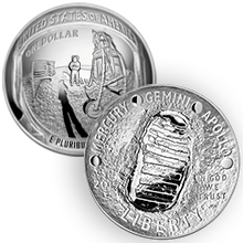 2019 5 oz Proof American Apollo 11 50th Anniversary Commemorative Silver Coin