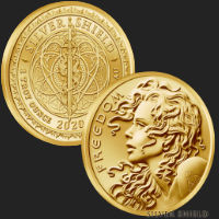 2020 1 oz Freedom Girl Gold Round BU