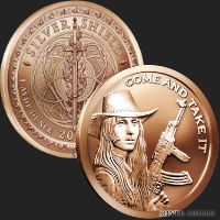1 oz Come and Take It Copper Round