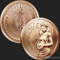1 oz Love Copper Bullion Round .999 Fine