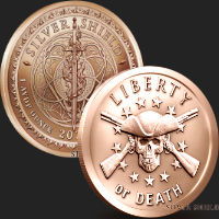 1 oz Liberty or Death Copper Round .999 Fine