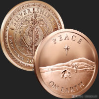 1 oz Peace on Earth Copper Round