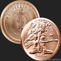1 oz Trivium Girls Copper Round