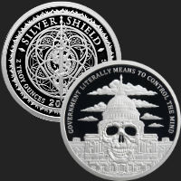 2 oz Government Mind Control MiniMintage Proof Silver Round .999 Fine