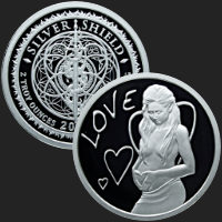 2 oz Love MiniMintage Proof Silver Round .999 Fine