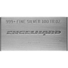 100 oz Silver Bar Engelhard