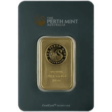 10 oz Perth Gold Bar - In Assay Card (Assay Card design may vary)