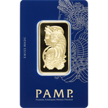 1 oz Gold Bar Pamp Fortuna