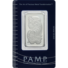 1 oz PAMP Suisse Lady Fortuna Platinum Bar (in Assay Card)