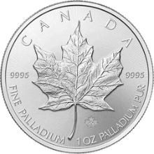1 oz Canadian Palladium Maple Leaf Coin BU (Random Year)