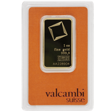 1 oz Gold Bar Valcambi