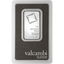 1 oz Platinum Bar Valcambi