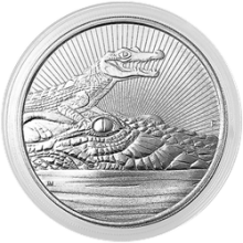 2019 10 oz Australian Mother & Baby Crocodile Silver Coin BU (Piedfort)