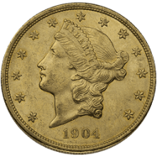$20 Liberty Gold Double Eagle Coin AU (Random Year|Pre-1933)