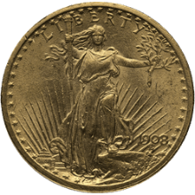 $20 Saint-Gaudens Gold Double Eagle Coin AU (Random Year|Pre-1933)