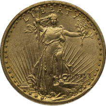 $20 U.s. Gold Saint Xf