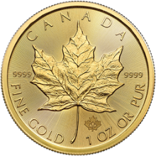 2020 1 oz Canadian Gold Maple Leaf Coin BU