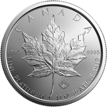 2019 1 oz Canadian Platinum Maple Leaf