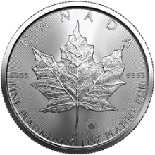 2020 1 oz Canadian Platinum Maple Leaf Coin BU