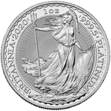 2020 1 oz Great Britain Platinum Britannia