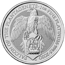2020 1 oz Platinum Queens Beast Falcon