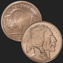 5 oz Buffalo Copper Bullion Round .999 Fine