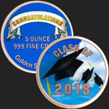 5 oz Happy Graduation 2018 Copper Round .999 Fine (capsule included)