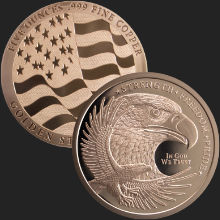5 oz GSM Copper Eagle Round .999 Fine