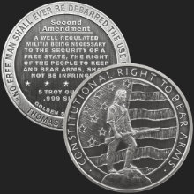 5 oz Second Amendment | Right to Bear Arms Antiqued Silver Round .999 Fine (capsule included)