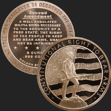 5 oz Second Amendment | Right to Bear Arms Copper Round .999 Fine