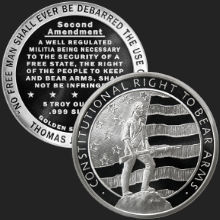 5 oz Second Amendment | Right to Bear Arms Silver Round .999 Fine