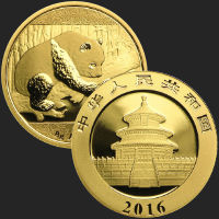 2016 China 8 gram Gold Panda BU .999 (mint sealed)
