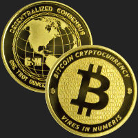 1 oz Bitcoin Gold Bullion Round .9999 Fine (capsule included)