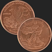 Walking Liberty 1/4 oz Copper Coin