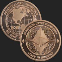 1 oz Ethereum Copper Bullion Round .999 Fine