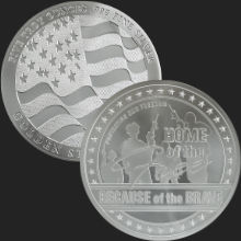 5 oz GSM Home of the Free Silver Round .999 Fine