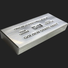 1 Kilo (32.15 ozt) GSM Silver Bullion Bar .999+ Fine (Extruded)