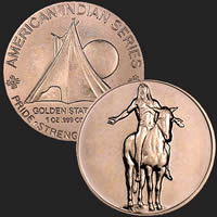 1 oz Appeal to the Great Spirit Copper Bullion Round .999 Fine