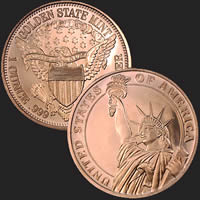 1 oz Statue of Liberty Copper Bullion Round .999 Fine