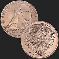 Sitting Bull 1 oz Copper Coin