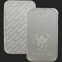 1 oz Heraeus Silver Bullion Bar .999 Fine