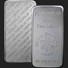 Heraeus 10 oz Silver Bar