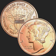 Mercury 1/2 oz Copper Coin