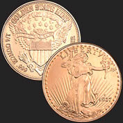 St Gaudens 1/4 oz Copper Coin