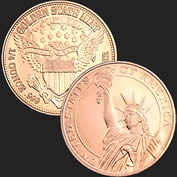 Statue of Liberty 1/4 oz Copper Coin