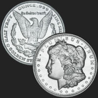 1/2 oz Morgan Fractional Silver Round .999 Fine