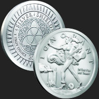 1 oz Blinded Liberty MiniMintage BU Silver Round .999 Fine