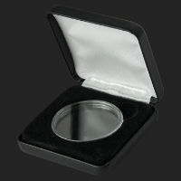 Black Leatherette Gift\ Presentation box (holds 1 oz capsule)