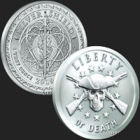 1 oz Liberty or Death BU Silver Round .999 Fine