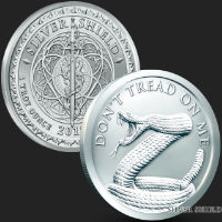 1 oz Don't Tread On Me BU Silver Round